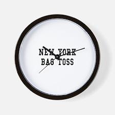 New York Bag Toss Wall Clock