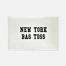 New York Bag Toss Rectangle Magnet