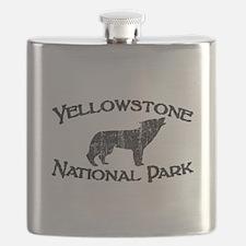 Yellowstone Wolf Flask