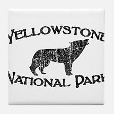 Yellowstone Wolf Tile Coaster