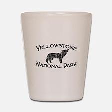 Yellowstone Wolf Shot Glass