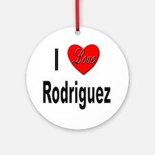 I Love Rodriguez Ornament (Round)