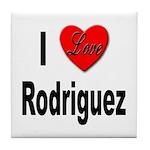 I Love Rodriguez Tile Coaster