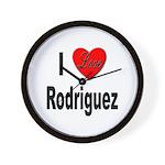 I Love Rodriguez Wall Clock