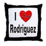 I Love Rodriguez Throw Pillow