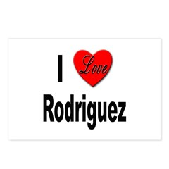 I Love Rodriguez Postcards (Package of 8)