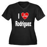 I Love Rodriguez (Front) Women's Plus Size V-Neck