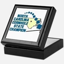 North Carolina Cornhole State Keepsake Box
