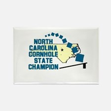 North Carolina Cornhole State Rectangle Magnet