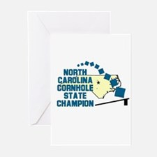 North Carolina Cornhole State Greeting Cards (Pk o