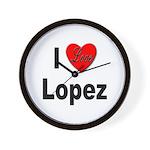 I Love Lopez Wall Clock