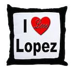 I Love Lopez Throw Pillow