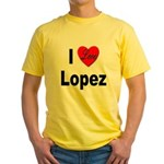I Love Lopez (Front) Yellow T-Shirt