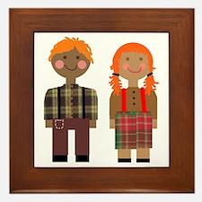 Ann and Andy 2 Framed Tile