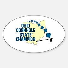 Ohio Cornhole State Champion Oval Decal