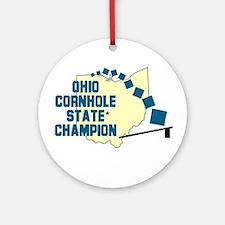 Ohio Cornhole State Champion Ornament (Round)
