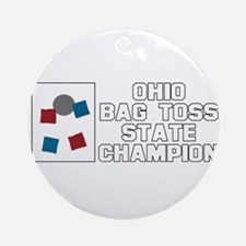 Ohio Bag Toss State Champion Ornament (Round)