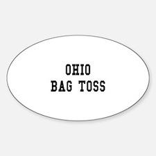 Ohio Bag Toss Oval Decal