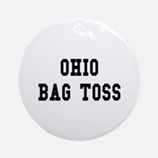 Ohio Bag Toss Ornament (Round)