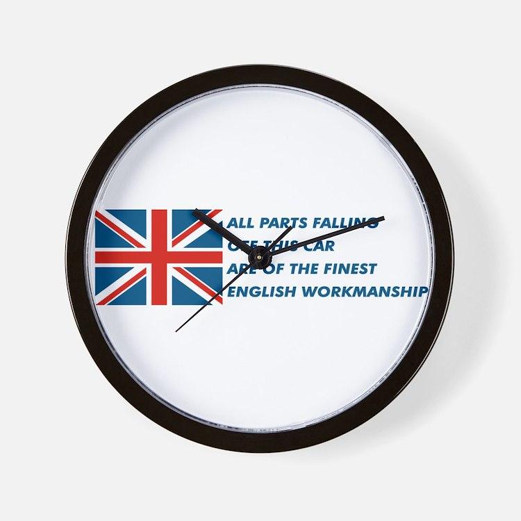 Cute British car Wall Clock