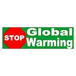 Stop Global Warming Environment Bumper Sticker