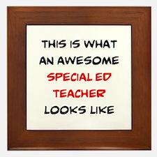 awesome special ed teacher Framed Tile