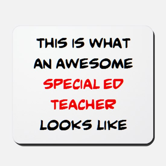awesome special ed teacher Mousepad