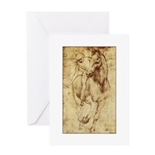 Leonardo da Vinci Horse Rider Greeting Card