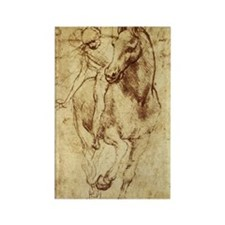 Leonardo da Vinci Horse Rider Rectangle Magnet