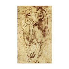 Leonardo da Vinci Horse Rider Sticker (Rectangular