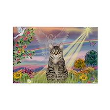 Cloud Star / Tiger Cat Rectangle Magnet