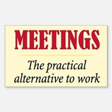 Meetings - Rectangle Decal