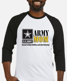 Army Mom Proud Baseball Jersey