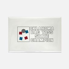 Oklahoma Bag Toss State Champ Rectangle Magnet
