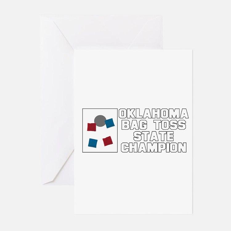 Oklahoma Bag Toss State Champ Greeting Cards (Pk o