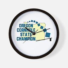 Oregon Cornhole State Champio Wall Clock