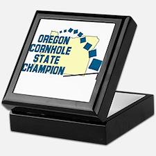 Oregon Cornhole State Champio Keepsake Box