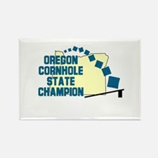 Oregon Cornhole State Champio Rectangle Magnet