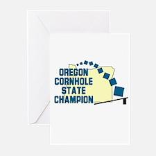 Oregon Cornhole State Champio Greeting Cards (Pk o
