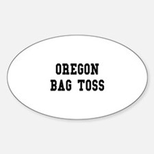 Oregon Bag Toss Oval Decal