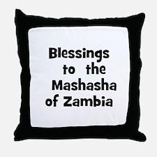 Blessings  to  the  Mashasha  Throw Pillow