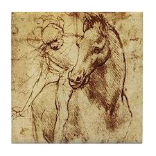 Leonardo da Vinci Horse Rider Tile Coaster
