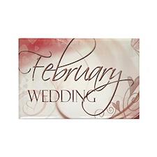 February Wedding Rectangle Magnet