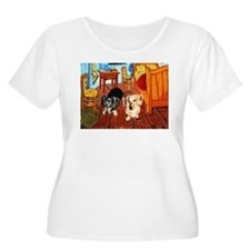Double Dachshunds Van Gogh T-Shirt