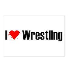 I love wrestling Postcards (Package of 8)