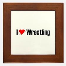 I love wrestling Framed Tile