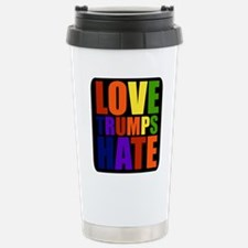 Love Trumps Hate Travel Mug