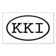 KKI Oval Rectangle Decal