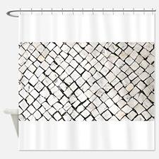 Portuguese Sidewalk / Calçada Portu Shower Curtain