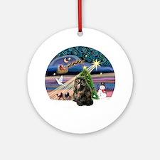 Xmas Magic & Tortie Persian cat Ornament (Round)